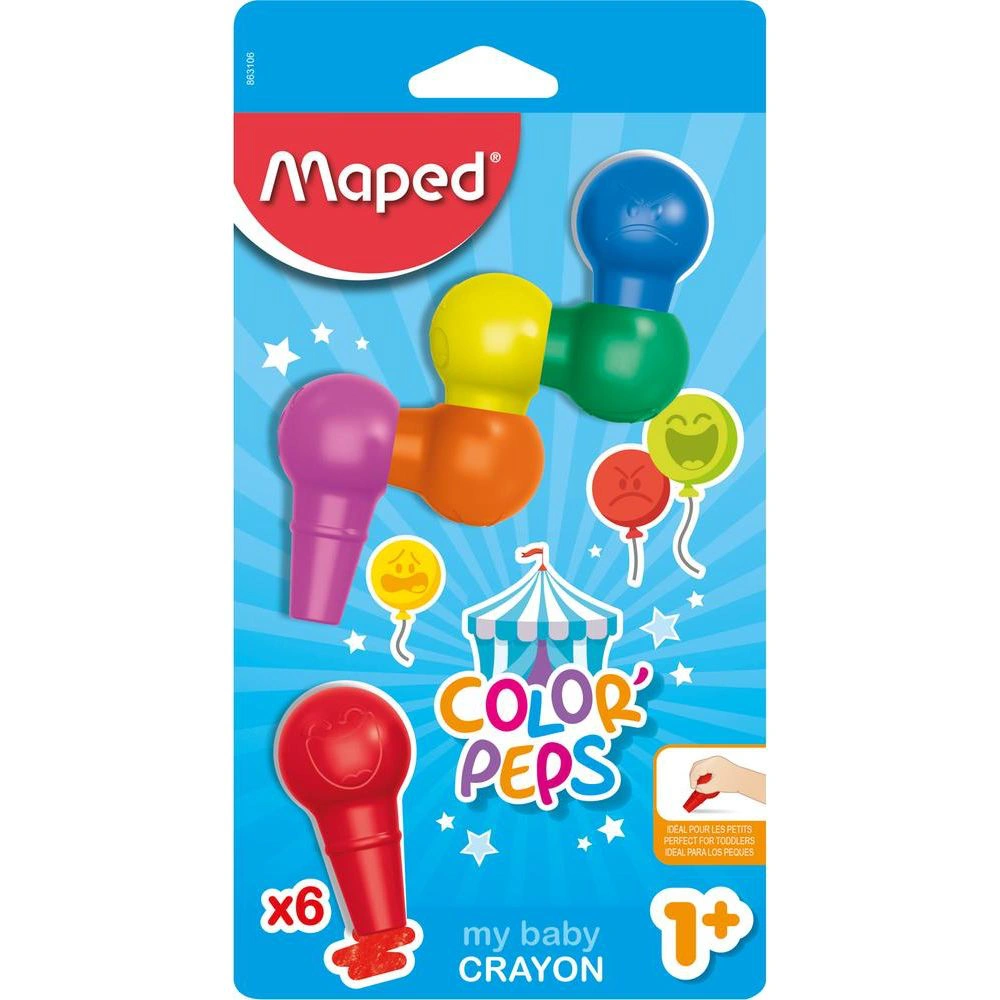 Giz De Cera 6 Cores My Baby Color (Maped)