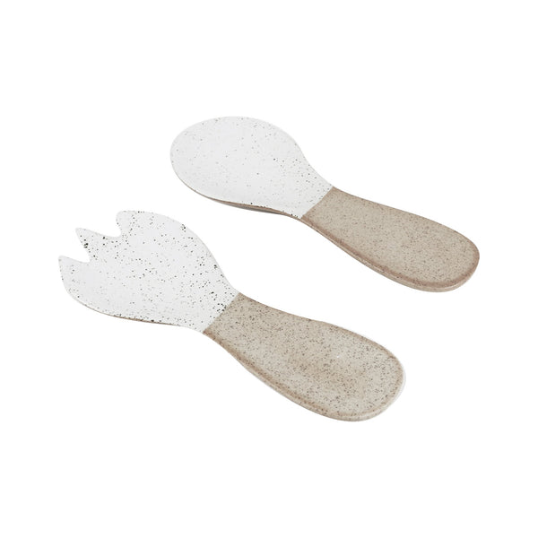 Salad Servers - White, Garden to Table