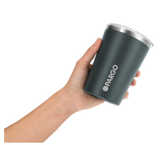 Pargo Insulated Coffee Cup - BBQ Charcoal 12oz