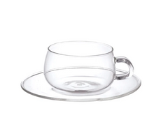 Kinto Unitea Cup & Saucer - Glass 230ml
