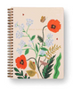 Rifle Paper Co Spiral Notebook Ruled A5 - Poppy Botanical