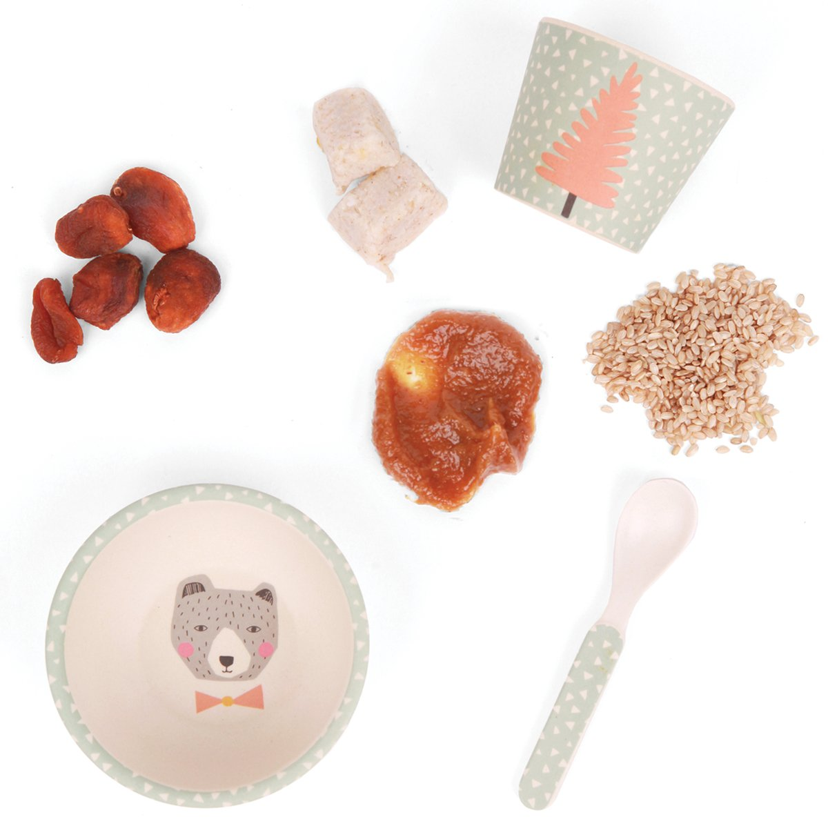 Love Mae Baby Feeding Set - Bear