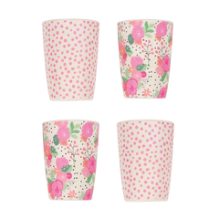 Love Mae Tumblers 4pk - Bloom & Pink Spot