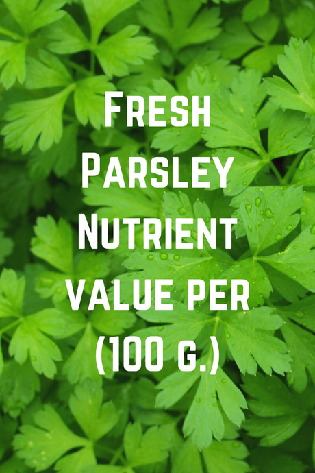 Fresh Parsley Nutrient value per 100 g.