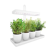 Load image into Gallery viewer, LED Indoor Herb Garden, Height Adjustable GrowLED Plant Grow Indoor Garden Light, LED Germination Kit with Smart Timer, Suitable for Various Plants, White Light Potted Planting