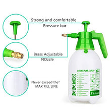 Load image into Gallery viewer, Munyonyo Garden Pump Sprayer,68oz/34oz Hand-held Pressure Sprayer Bottle for Lawn with Safety Value&Adjustable Nozzle, for Watering,Spraying Weeds,Home Cleaning and Car Washing,0.5 Gallon 68oz Green