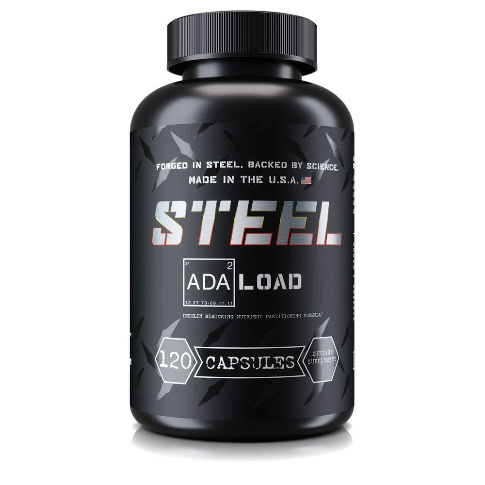 Steel Supplements ADA-Load | Carb Blocker, Blood Sugar Management and Muscle Pumps | Advanced Nutrient Partitioning Supplement for Men and Women | 120 Capsules