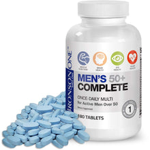 Load image into Gallery viewer, Bronson ONE Daily Mens 50+ Complete Multivitamin Multimineral, 180 Tablets