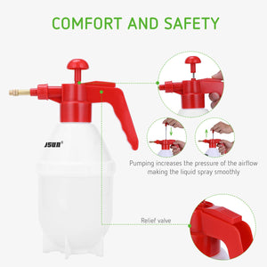 VIVOSUN 0.2Gallon Hand held Garden Sprayer Pump Pressure Water Sprayers, 27 oz Hand Sprayer for Lawn, Garden (0.8L Red) 27 ounce