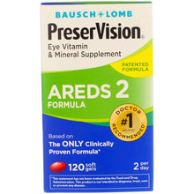Load image into Gallery viewer, PreserVision AREDS 2 Vitamin & Mineral Supplement, Soft Gels 120 ea (Pack of 2)
