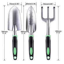 Load image into Gallery viewer, ZUZUAN Garden Tool Set, 3 Pack Garden Hand Shovels Aluminum Alloy Garden Trowels with Ergonomic Rubberized Non-Slip Grip, Included Trowel, Transplant Trowel and Cultivator Hand Rake