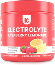 Load image into Gallery viewer, KEPPI Keto Electrolytes Powder - 50 Servings No Sugar or Carbs - Advanced Hydration Raspberry Lemonade Electrolyte Supplement, Boost Energy Without Sugar