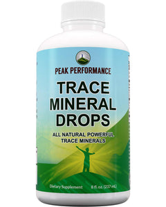 Organic Trace Minerals Liquid Drops for Water. Ionic Plant Based Fulvic Trace Mineral Drop Supplement + Magnesium. Replenishes Natural Minerals, Electrolytes + Optimal pH Levels. 8 fl oz Concentrate