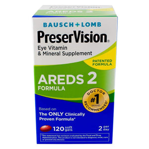 PreserVision AREDS 2 Vitamin & Mineral Supplement, Soft Gels 120 ea (Pack of 2)