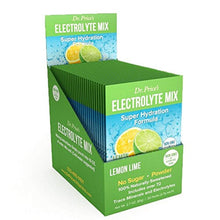 Load image into Gallery viewer, Electrolyte Mix Super Hydration Formula + Trace Minerals | NEW! Lemon-Lime Flavor (30 powder packets) Sports Drink Mix | Dr. Price's Vitamins | No Sugar, Non-GMO, Gluten Free & Vegan