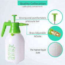 Load image into Gallery viewer, ITISLL Manual Garden Sprayer Hand Lawn Pressure Pump Sprayer Safety Valve Adjustable Nozzle Half Gal ½ Gal Green_Hand & White_Bottle