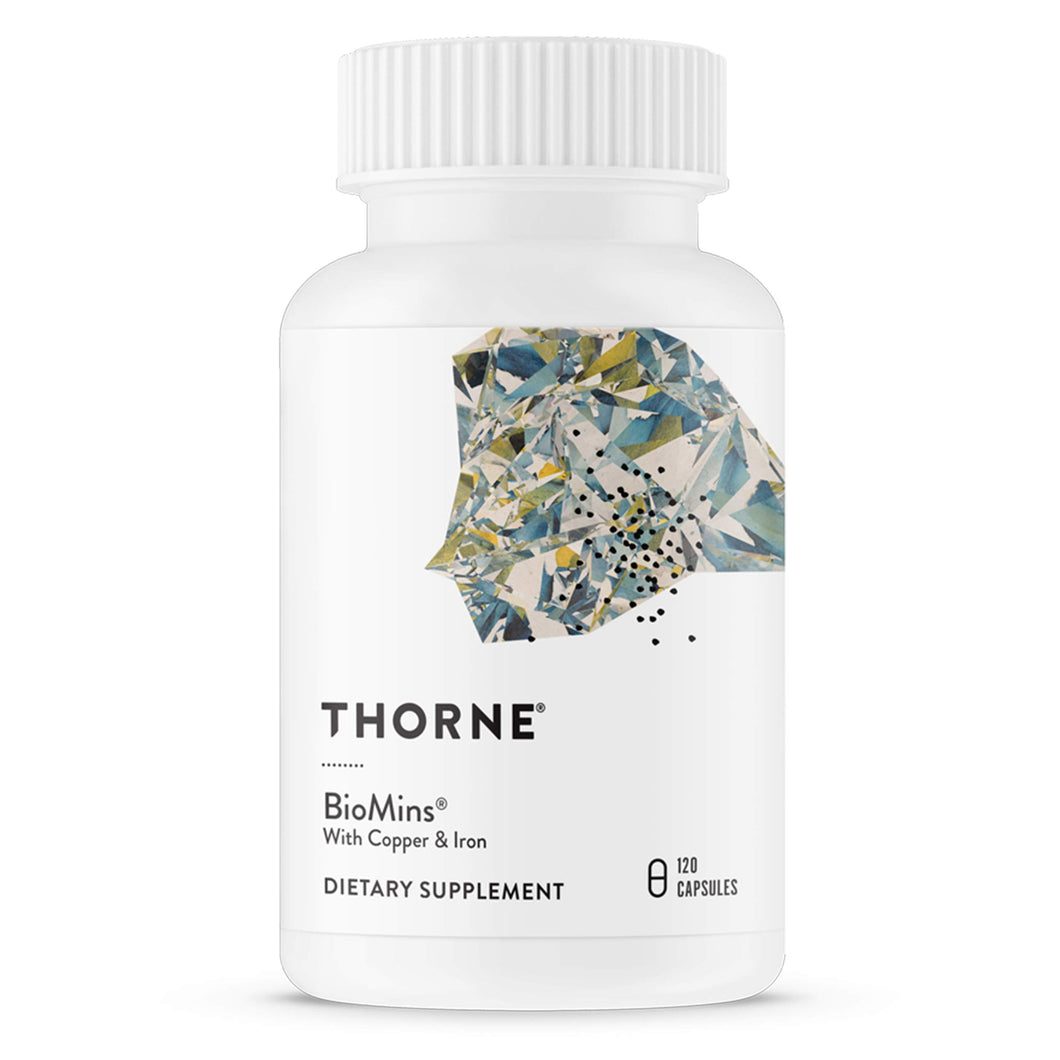Thorne Research - BioMins - Comprehensive Multi-Mineral Supplement with Copper and Iron - 120 Capsules