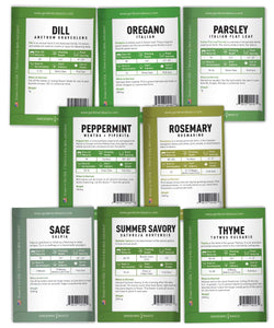 15 Herb Seeds For Planting Varieties Heirloom Non-GMO 5200+ Seeds Indoors, Hydroponics, Outdoors - Basil, Catnip, Chive, Cilantro, Oregano, Parsley, Peppermint, Rosemary and More By Gardeners Basics