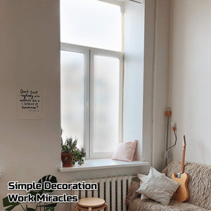 EVERYTHRY Window Privacy Film Frosted Window Sticker Static Cling Vinyl Glass Film Non Adhesive Anti UV Removable Door Covering for Home Bathroom Kitchen Office (Frosted, 35.4 Inch x 32.8 Feet)