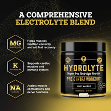 Load image into Gallery viewer, Hydrolyte - 100 Servings Sugar Free Electrolyte Powder with Magnesium, Potassium and Sodium - Boost Endurance and Reduce Fatigue with This Electrolytes Supplement - Maximum Hydration - Keto Friendly