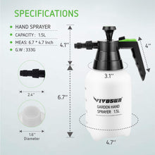 Load image into Gallery viewer, VIVOSUN 51oz Hand held Garden Sprayer Pump Pressure Water Sprayers, 0.4 Gallon Hand Sprayer for Lawn, Garden