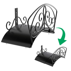 Garden Hose Holder Heavy Duty Water Hose Holder Expandable Hose Hanger Solid Metal Hose Storage Durable Wall Mount Decorative Hose Reel Hose Rack Sturdy Hose Organizer for Outside Yard with Hardware XL
