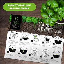 Load image into Gallery viewer, Indoor Herb Garden Starter Kit - 5 Herb Seeds Gardening Kit with Bamboo Planting Pots & Potting Soil - Heirloom & Non GMO - DIY Home Seed Starter Grow Plant Kit - Basil, Mint, Cilantro, Chives Seeds