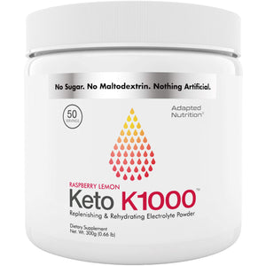 Keto K1000 Electrolyte Powder | Boost Energy & Beat Leg Cramps | No Maltodextrin or Sugar | No Ingredients from China or Pakistan | Raspberry Lemon | 50 Servings 50 Servings (Pack of 1)