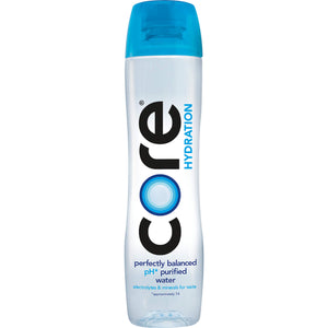 CORE Hydration, 30.4 Fl. Oz (Pack of 12), Nutrient Enhanced Water, Perfect 7.4 Natural pH, Ultra-Purified with Electrolytes and Minerals, Cup Cap for Sharing 30.4 Fl Oz (Pack of 12)