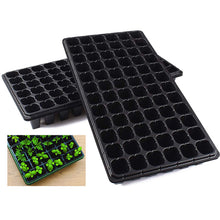Load image into Gallery viewer, 10 Pack Seed Starter Kit, 72 Cell Seedling Trays Gardening Germination Plastic Tray Nursery Pots Mini Propagator Plant Grow Kit Plug Tray Starting Trays for Seedling Germination Black 72 Cells Tray