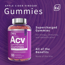 Load image into Gallery viewer, Apple Cider Vinegar Gummies from The Mother - All-Natural, Vegan ACV with Folic Acid and Vitamin B6 & B12 | by Essential Elements - 60 Count …