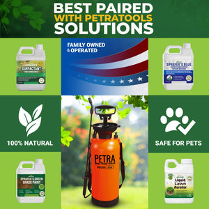 PetraTools 2-Gallon Sprayer - Lawn and Garden Pump Sprayer - for Weeds, Water, Chemical, Pesticide, Disinfectant, ULV500 – Includes Should Strap, Wand, Nozzle (HD200) 2 Gallons