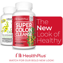 Load image into Gallery viewer, Health Plus Super Colon Cleanse: 10-Day Cleanse -Detox | More than 1 Cleanse, 60 Count (Pack of 1)