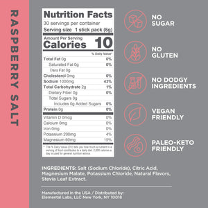 LMNT Electrolyte Drink Mix | Hydration Powder | Keto & Paleo | No Sugar, No Artificial Ingredients | Raspberry Salt | 30 Stick Packs 30 Count (Pack of 1)