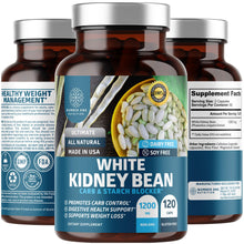 Load image into Gallery viewer, N1N Premium White Kidney Bean Extract [Max Strength & Absorption] Powerful Carb & Starch Blocker to Support Weight Loss and Boost Metabolism, Non GMO & Gluten Free, 120 Caps