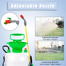 Load image into Gallery viewer, GUOOU 1.3 Gallon Pump Sprayer, Backpack Sprayer with Pump, Garden Pump Sprayers, Lawn Pressure Water Sprayer with Adjustable Shoulder Strap, Pressure Relief Valve