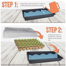 Load image into Gallery viewer, Peat Pots for Seedlings - 10 Seedling Trays with 2 Seed Starter Tray and Humidity Dome | 100 Biodegradable Seed Starter Pots for Plants | Peat Pods for Seedlings | Seed Starting kit -by Mr Sprout
