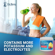 Load image into Gallery viewer, Dr. Berg's Original Electrolyte Powder - Hydration Drink Mix Supplement - Boosts Energy & Keto-Friendly - NO Maltodextrin & Sugar-Free - No Ingredients from China - Raspberry Lemon Flavor 45 Servings 10.7 Ounce (Pack of 1)