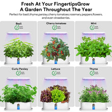 Load image into Gallery viewer, Elechome Hydroponics Growing System, Smart Indoor Herb Garden 10 Pots Plant Germination Kits Automatic Timer,Adjustable Height,Indoor Smart Garden Kits for Home Kitchen(White) White
