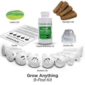 AeroGarden Grow Anything Seed Pod Kit, 9 9-pod