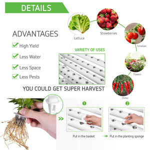 VIVOSUN Hydroponic Grow Kit, 3 Layers 90 Plant Sites 10 PVC Pipes Hydroponics Growing System with Water Pump, Pump Timer, Nest Basket and Sponge for Leafy Vegetables