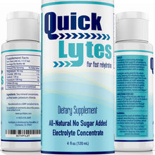 Load image into Gallery viewer, Quicklytes Electrolytes Supplement for Rapid Hydration | No Calorie No Sugar | Potassium, Magnesium & Sodium | Leg Cramp Relief | 48 Servings (1 Bottle) 4 Fl Oz (Pack of 1) Electrolyte Concentrate