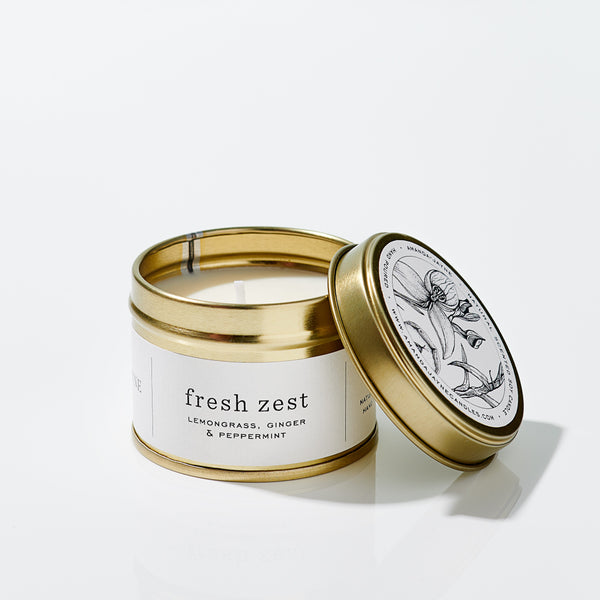 Amanda-Jayne Gold Travel Tin - FRESH ZEST