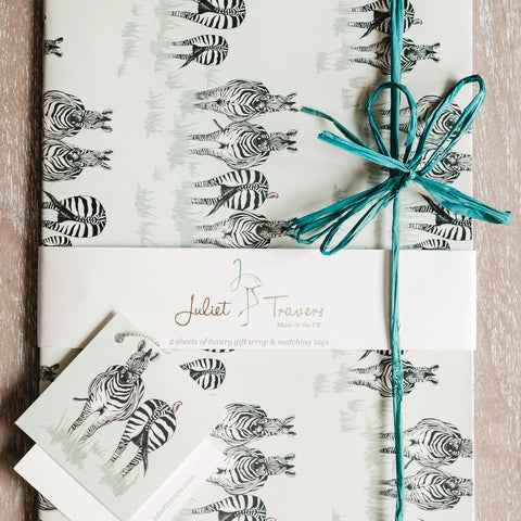 SAFARI Gift Wrap <br/> by Juliet Travers <br/> DAZZLE