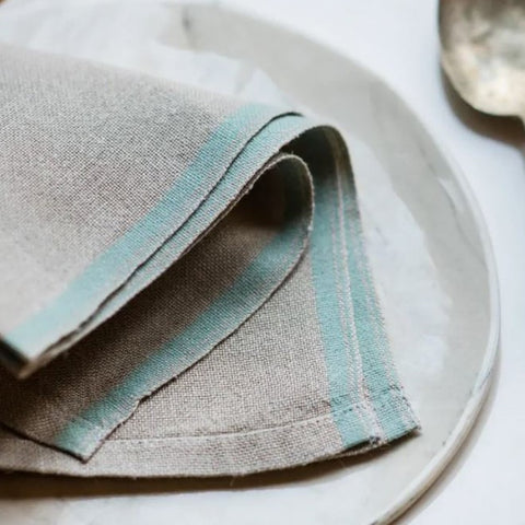 Selvedge Napkins <br/> DUCK EGG