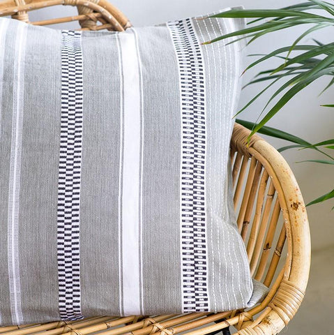Mungo Mali <br/> Cushion Cover <br/> ROLLED GREY