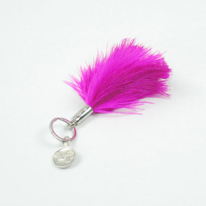 fluffi Keyring / Bag Charm <br/> HOT PINK
