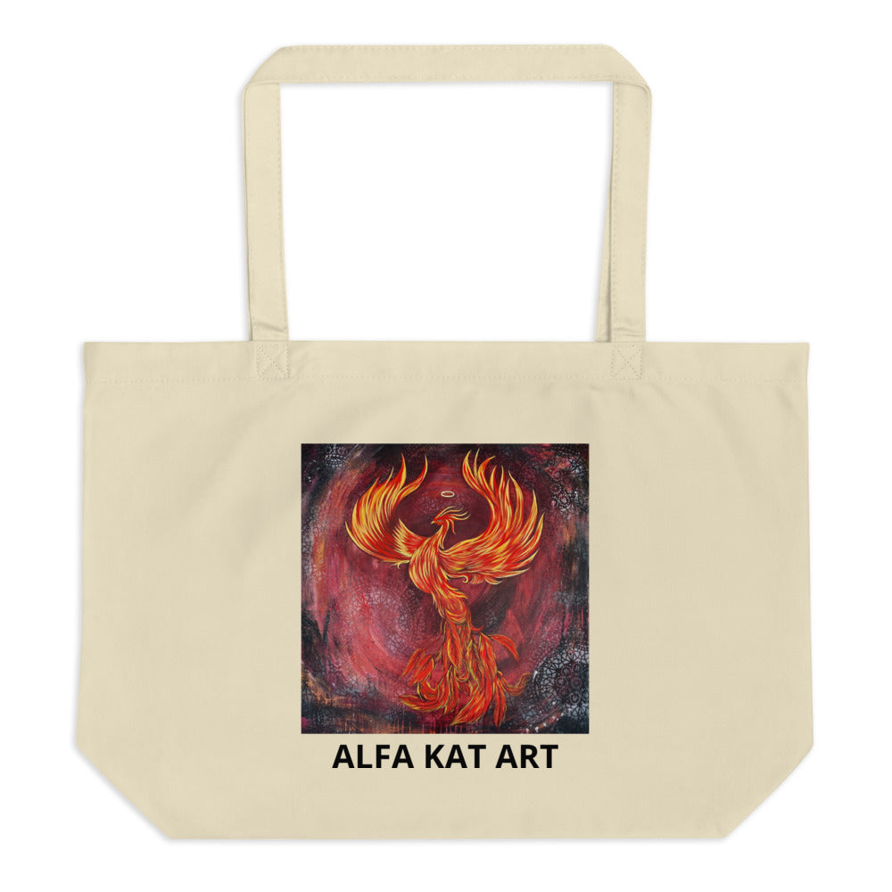 Phoenix Large organic tote bag