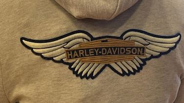 Chandails pour Femme à Capuche Heather Winged Patch Full-Zip Harley-Davidson®