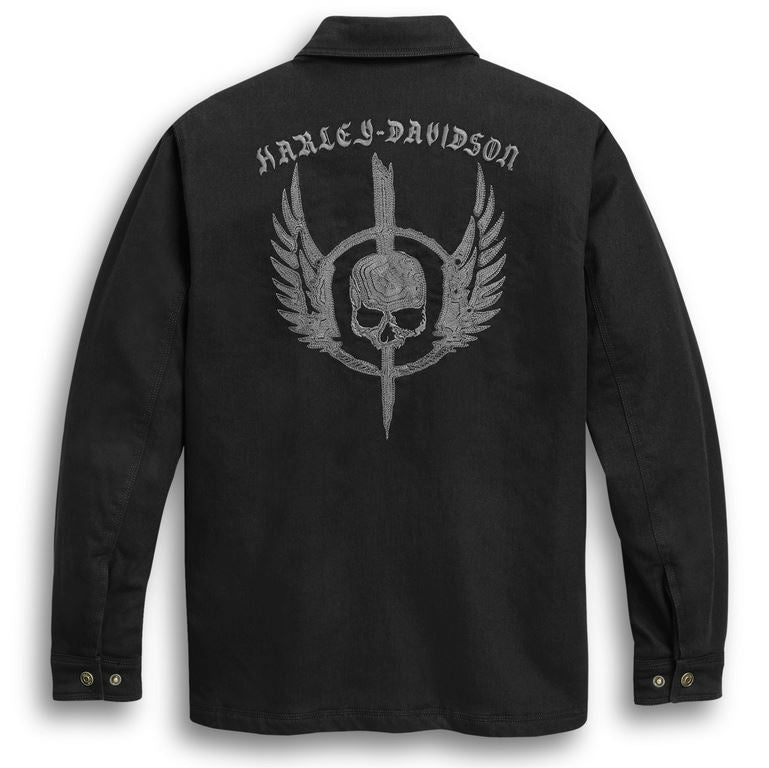 Chemise pour Hommes à Manches Longues Skull Wing Harley-Davidson®